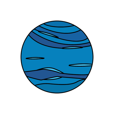 jupiter light: neptune planet universe galaxy vector illustration eps 10