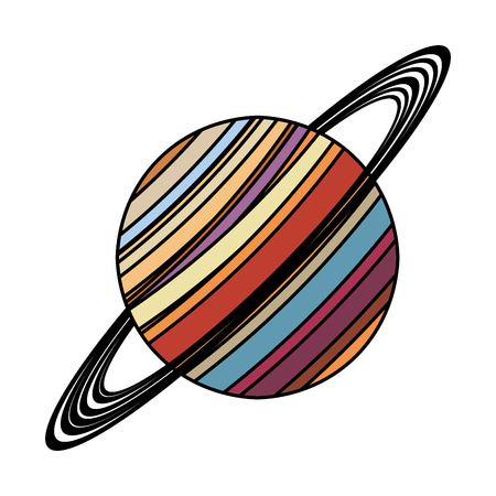 saturn planet astronomy image vector illustration eps 10