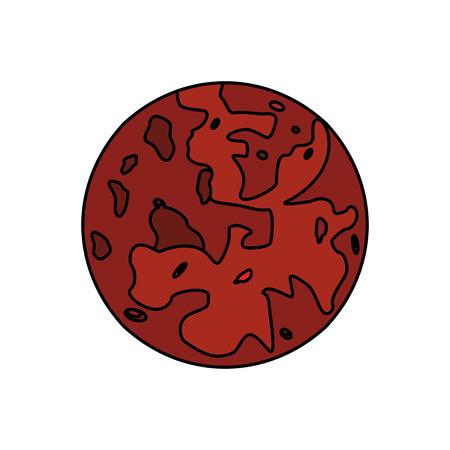 mars planet red space vector illustration eps 10