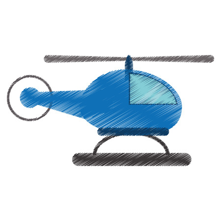drawing helicopter transport fly image vector illustration eps 10 Illustration