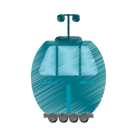 drawing cable car transport image vector illustration eps 10