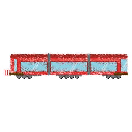railcar: Drawing drawing train wagon passenger vector illustration eps 10