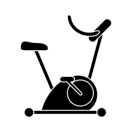 static bike: Silhouette bicycle static exercise training vector illustration eps 10 Illustration