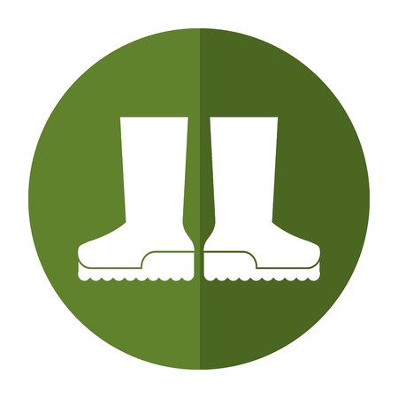 Boots rubber gardening shadow vector illustration eps 10 Illustration