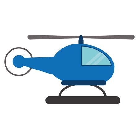 Blue helicopter transport fly vector illustration eps 10 Illusztráció