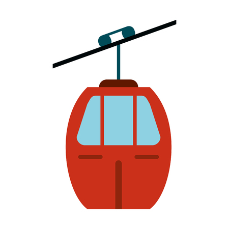 Red cable car transport vector illustration eps 10