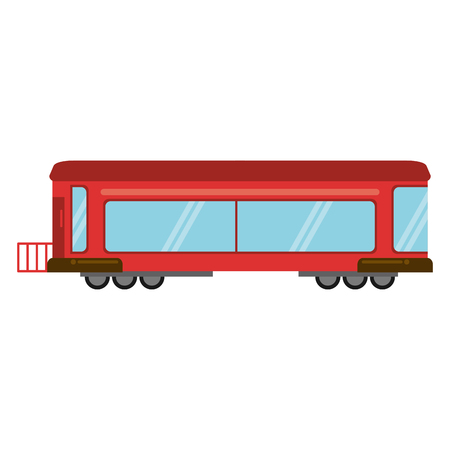high speed train: Red train rail passenger transport vector illustration eps 10 Illustration