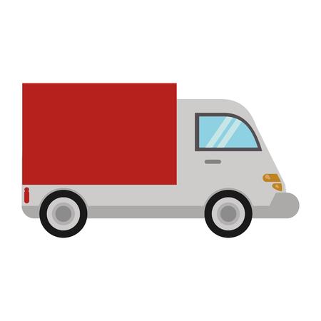 Entrega, camión, transporte, imagen, vector, eps, 10