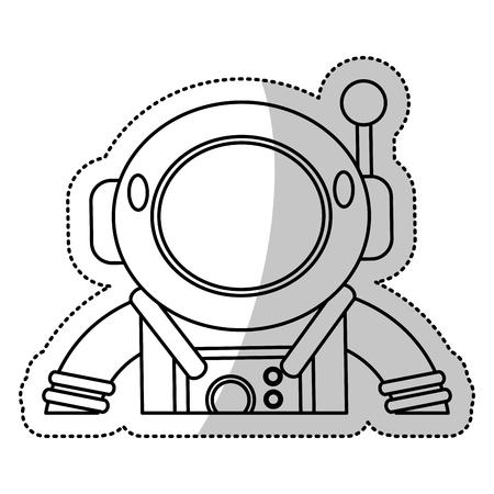 Astronauta Y Buceador Aislados En Blanco. Libro De Colorear Para ...