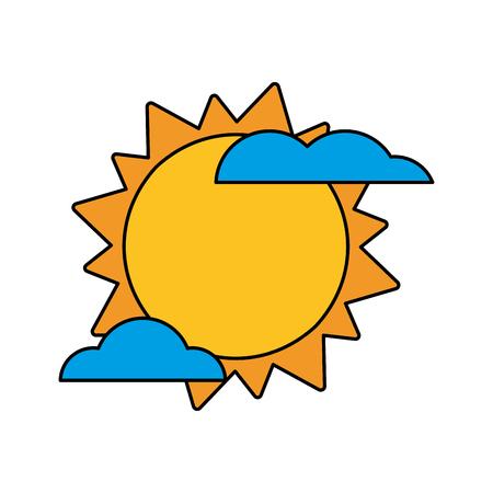 Sun cloud weather image vector illustration eps 10 Illustration