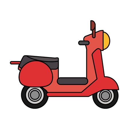 pave: Red scooter transport vehicle image vector illustration eps 10