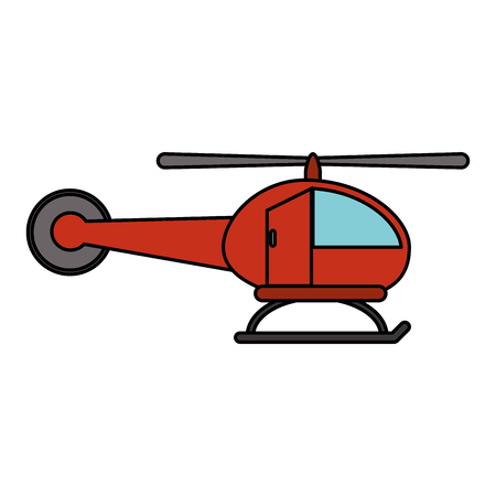 Red helicopter transport fly image vector illustration eps 10