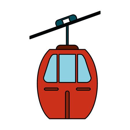 alcatraz: Cable car transport image vector illustration eps 10