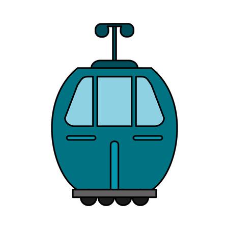 Blue cable car transport image vector illustration eps 10