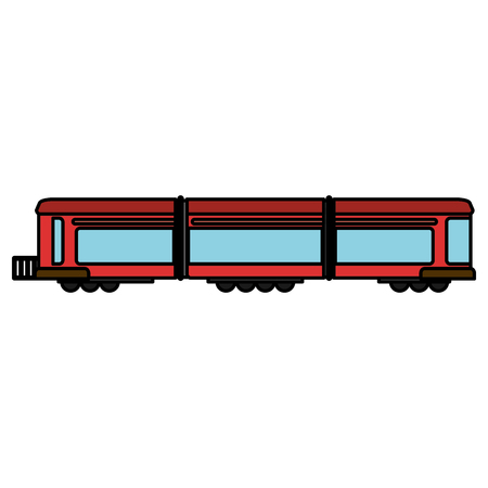 boxcar: Train wagon rail transport vector illustration eps 10