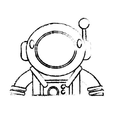 space station: Suit space astronaut sketch vector illustration eps 10 Illustration