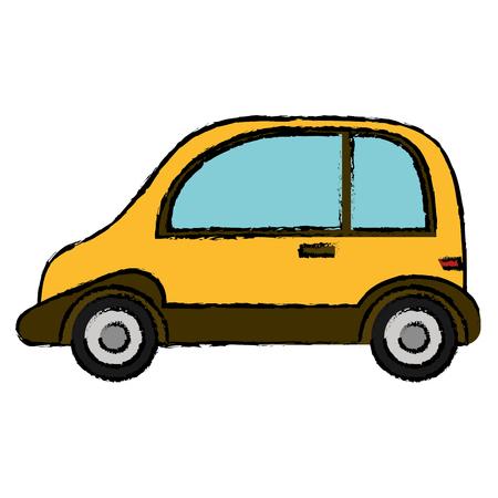 Yellow car sport transport vector illustration eps 10