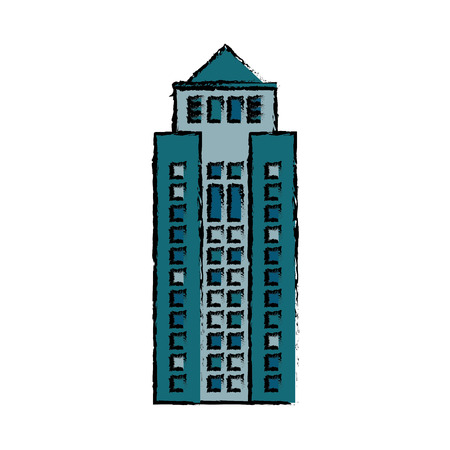 apartment bell: Building structure facade icon vector illustration eps 10 Illustration