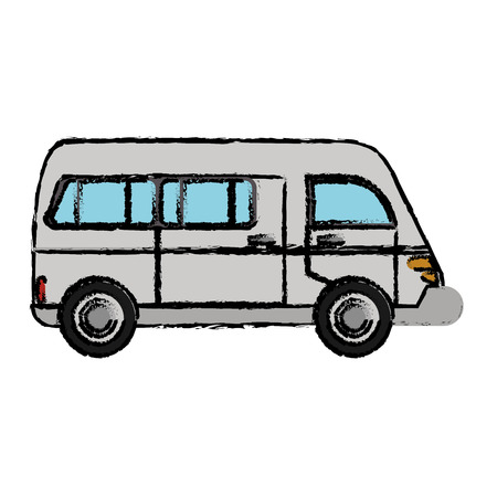 Van vehicle transport classic vector illustration eps 10 Illustration