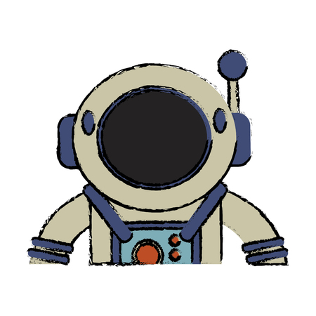 Suit space astronaut image vector illustration eps 10 Illustration