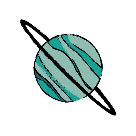Planet uranus astronomy universe icon vector illustration eps 10