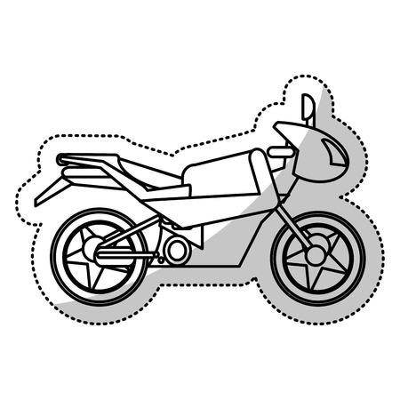 motorcycle transport extrem cut line