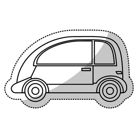 sunroof: Automobile vehicle transport cut line vector illustration Illustration