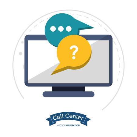 call center technology helpline chat vector illustration eps 10 Illustration