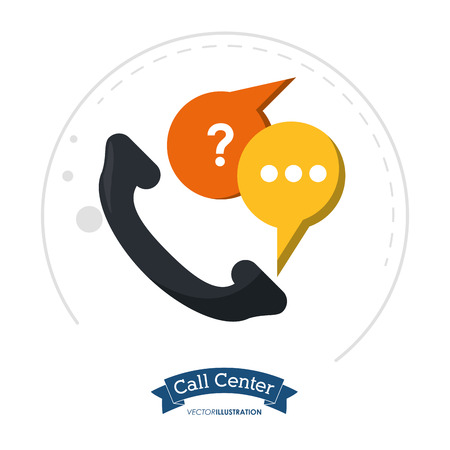 call center telephone communication help vector illustration eps 10 일러스트