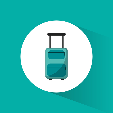 lugagge suitcase travel vacations vector illustration eps 10