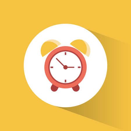 old times: clock time alarm watch vacation vector illustration eps 10