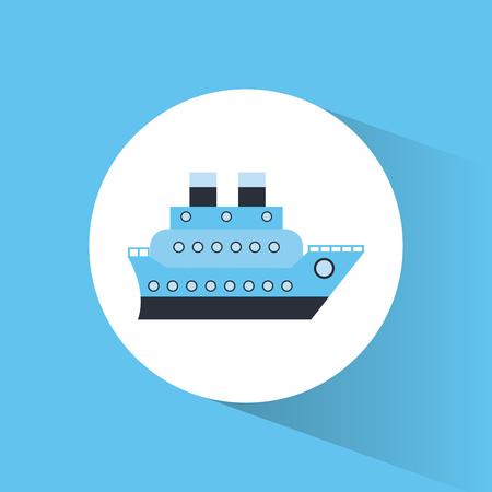 caribbean cruise: cruise ship vacation travel vector illustration eps 10