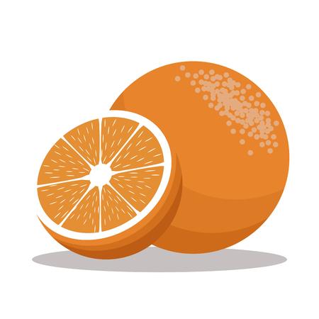 carbohydrate: orange nutrition healthy image vector illustration eps 10