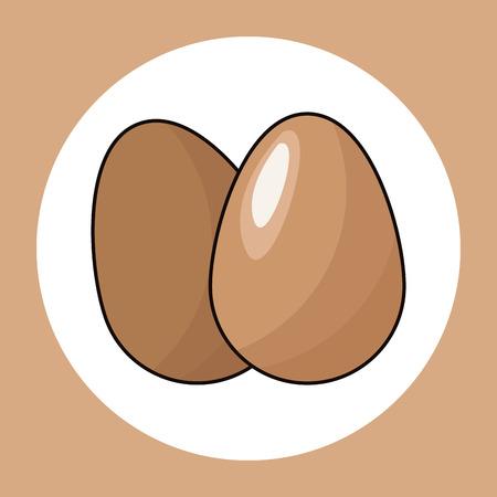 eggs healthy fresh image vector illustration Imagens - 74804540