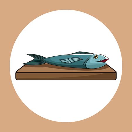 salmon fillet: fish healthy fresh image vector illustration Illustration