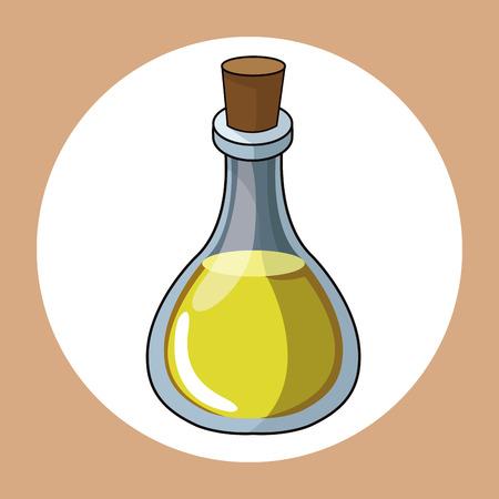 oil bottle healthy fresh image vector illustration