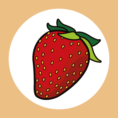 strawberry healthy fresh image vector illustration