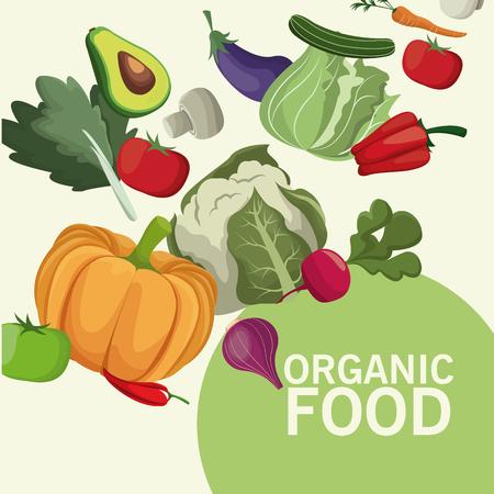 organic food kitchen products image vector illustration eps 10 Illustration