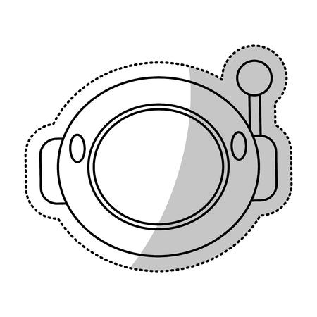 Astronauta Spacesuit Casco Contorno Ilustración Vectorial Eps 10 ...
