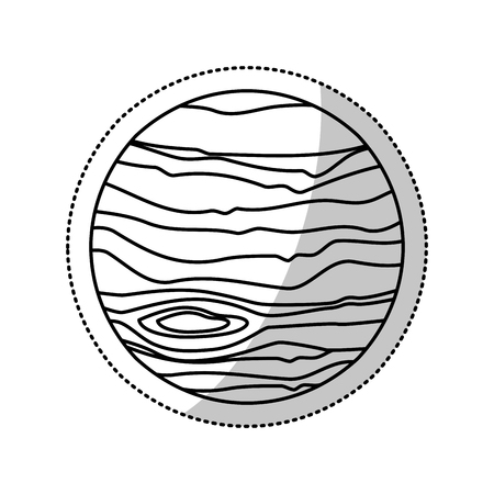 moon rover: Mars planet space outline vector illustration eps 10 Illustration