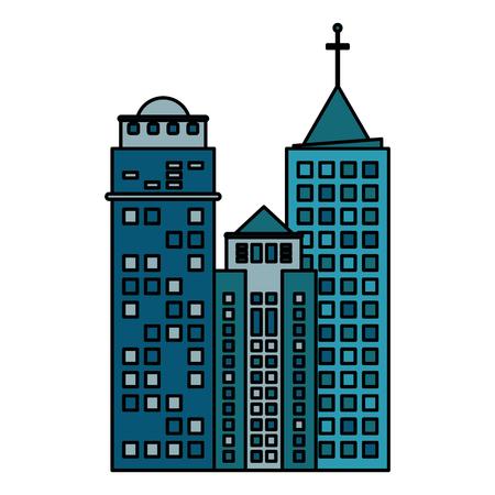 london night: Cool amazing building architecture modern skyscraper vector illustration eps 10 Illustration