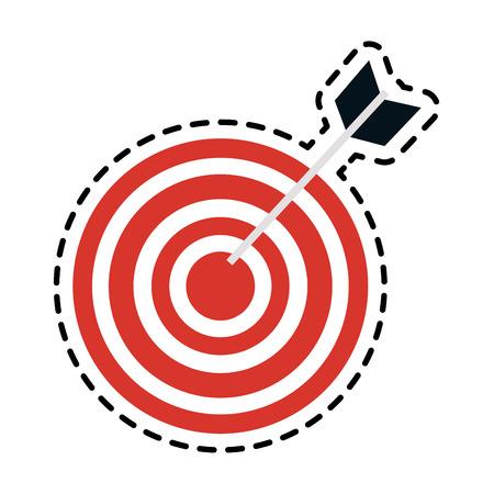 Cute bullseye target icon image vector illustration design
