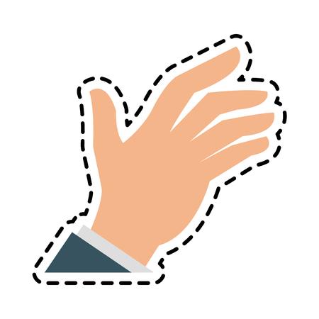 Cute open hand icon image vector illustration design