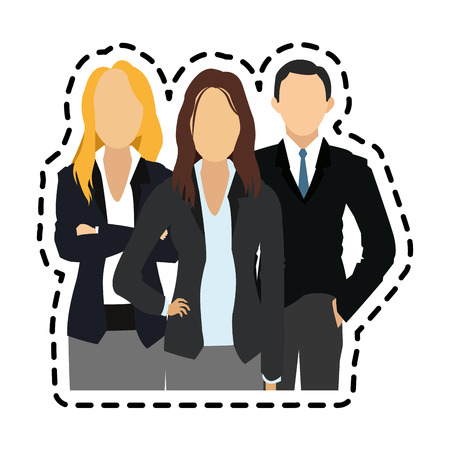 faceless women and man  business people icon image vector illustration design