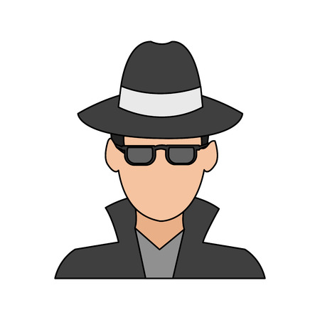 man hacker icon image vector illustration design