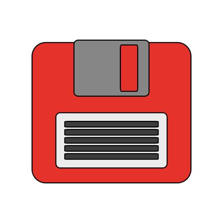 storage device: diskette or floppy disk icon image vector illustration design
