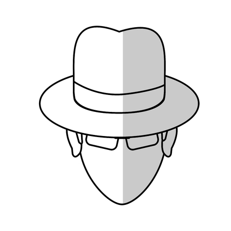 robbers: hacker man cartoon icon over white background.  vector illustration