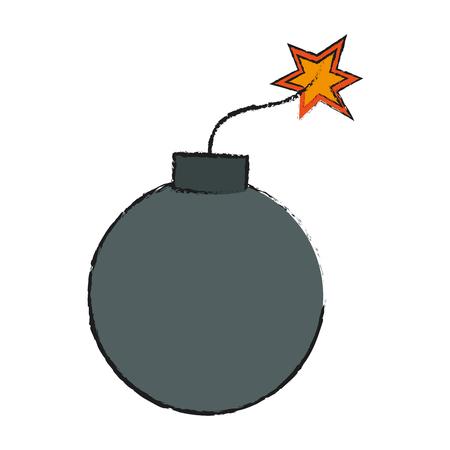 bomb icon over white background. vector illustration