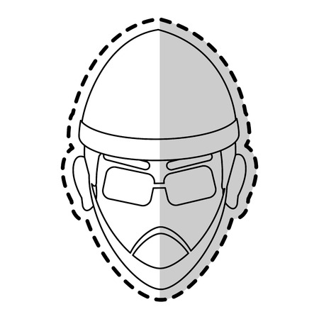 symbol victim: suspicious looking man icon image criminal vector illustration design