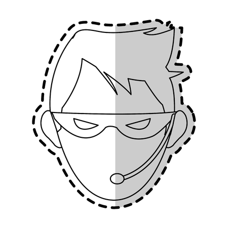 stealing data: hacker representation icon image vector illustration design